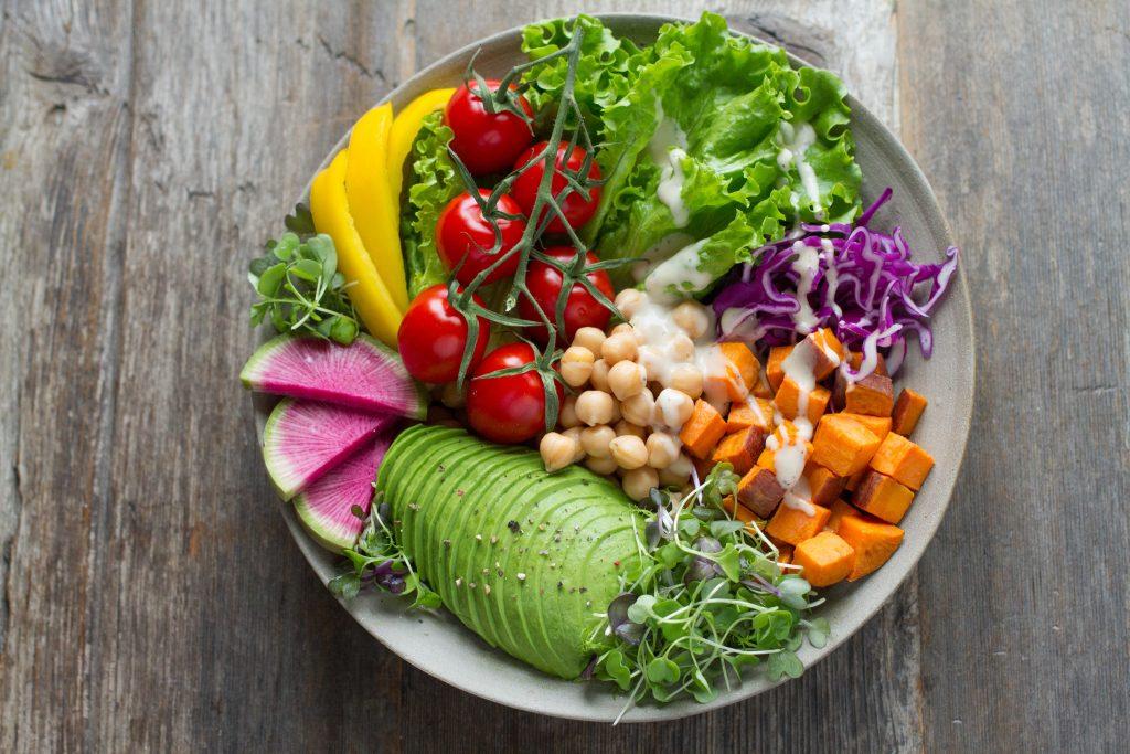 verdura con frutta